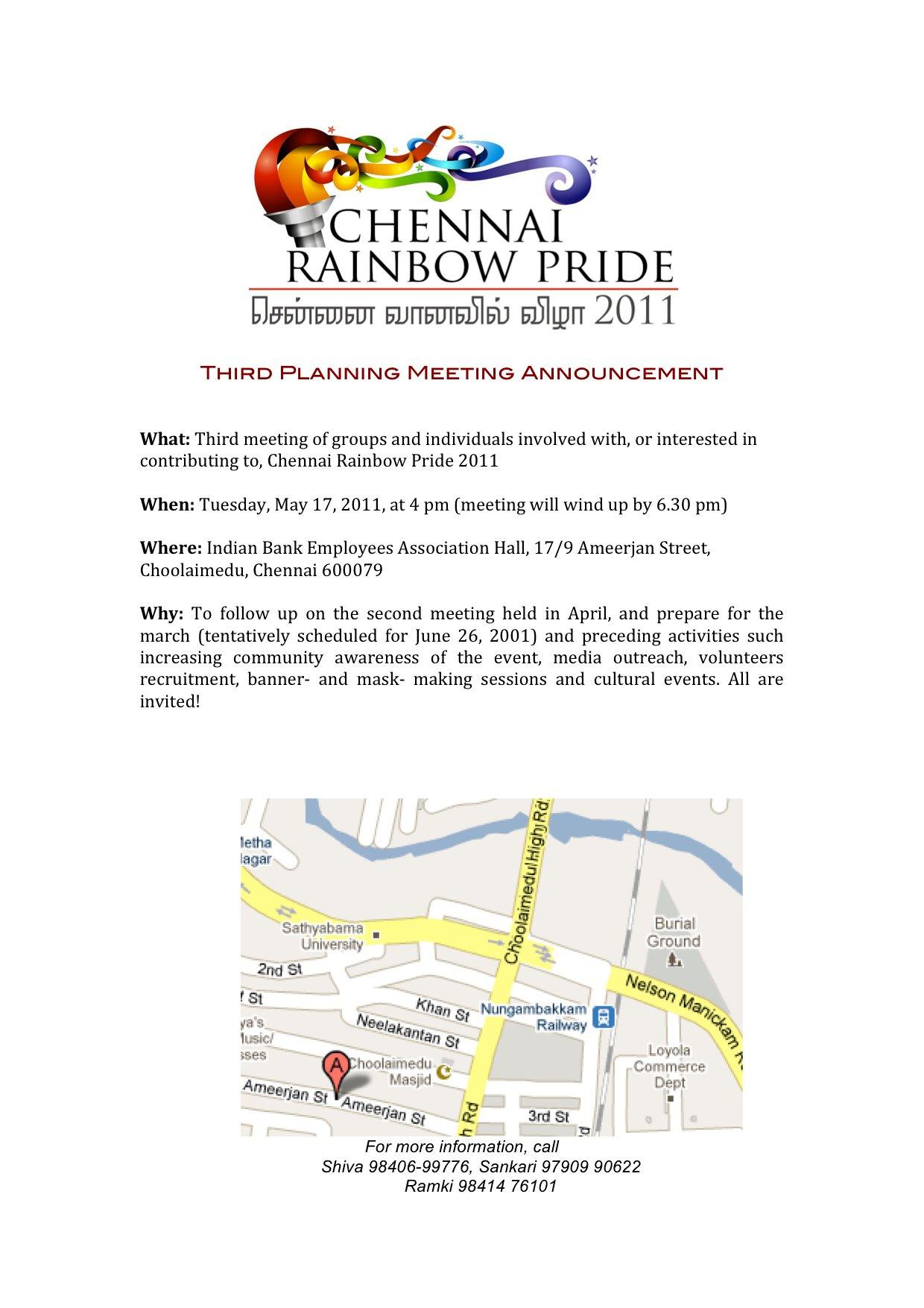 2011 Chennai Pride Is Here!