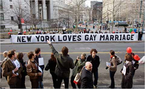 Gay Marriage is now Legal in New York State!