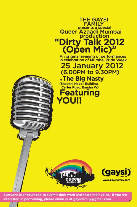Dirty Talk 2012 (Open Mic) : QAM & Gaysi Initiative
