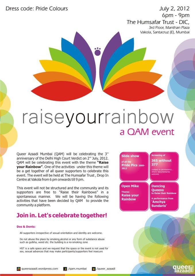 Raise Your Rainbow : A QAM Event