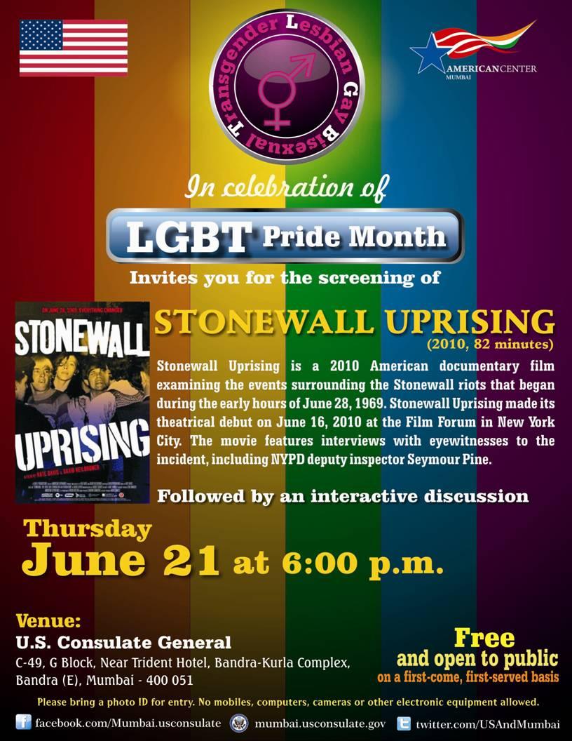 Screening Of Stonewall Uprising