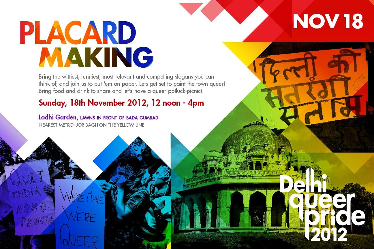 New Delhi Pride Festivities : Placard Making