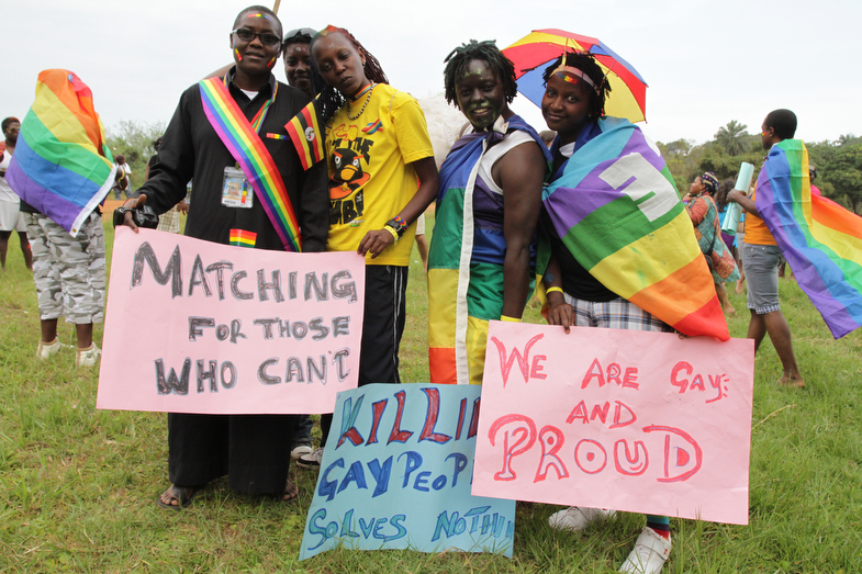 PIC BY RACHEL ADAMS -  pictured: Gay Pride Uganda