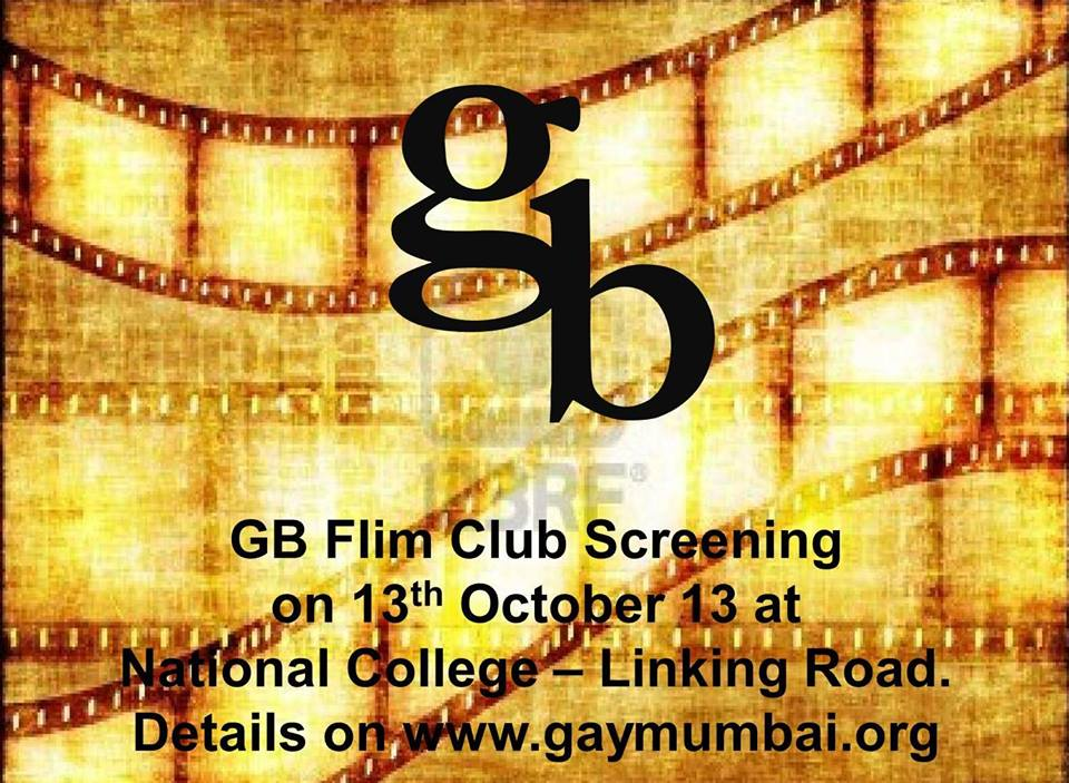 GB Film Club Screening on Sunday 13th October at National College, Bandra