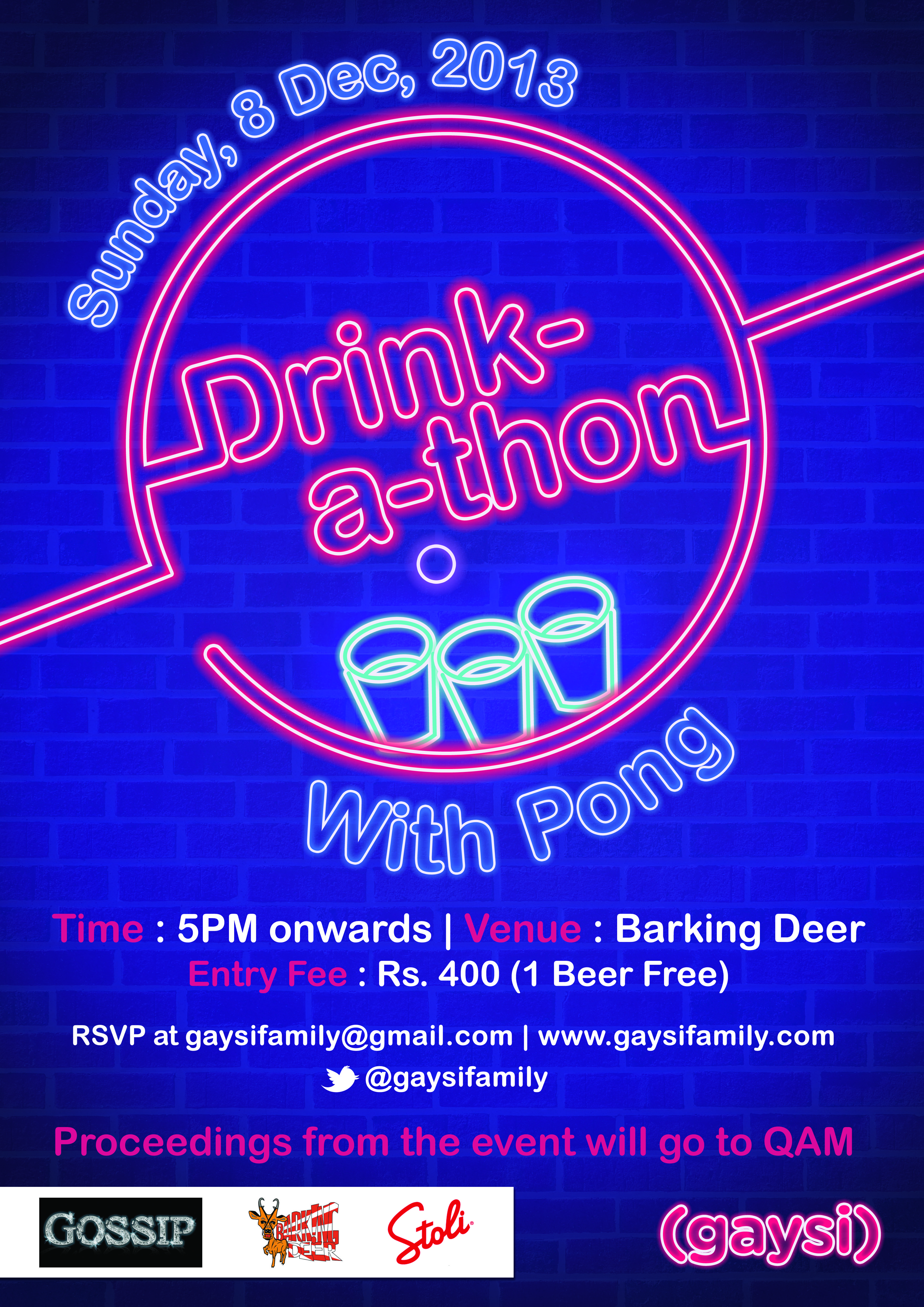 Drink-A-Thon : Fundraiser for Mumbai Pride 2014