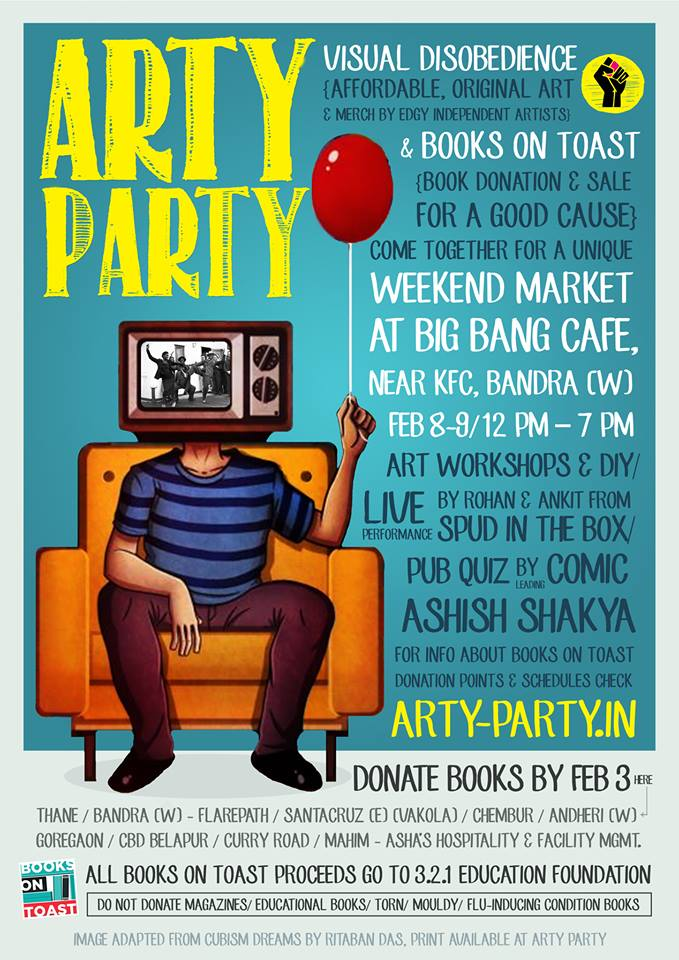 Arty Party & Books On To Toast : 8th & 9th Feb, Mumbai