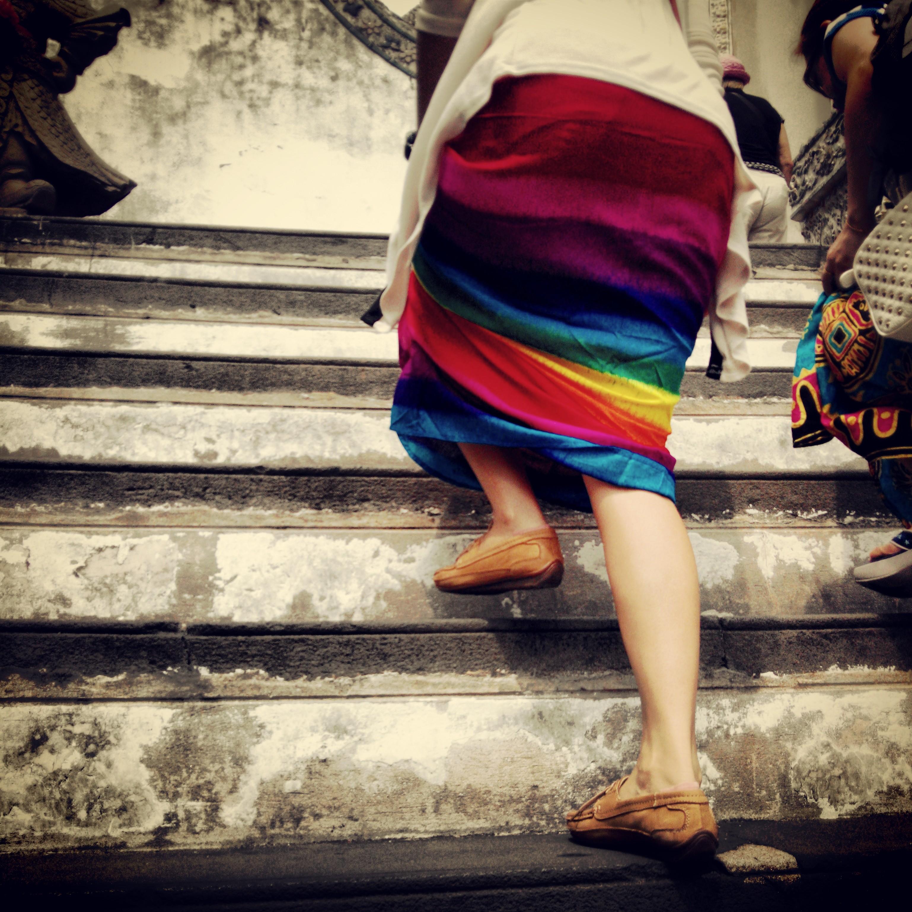 0 Rainbow skirt
