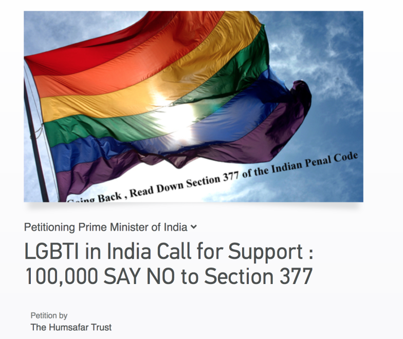 No Turning Your Back on Hope : Say NO To Section 377
