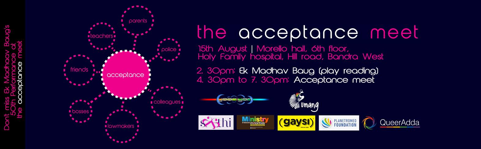 The Acceptance Meet : 15th August, 2014