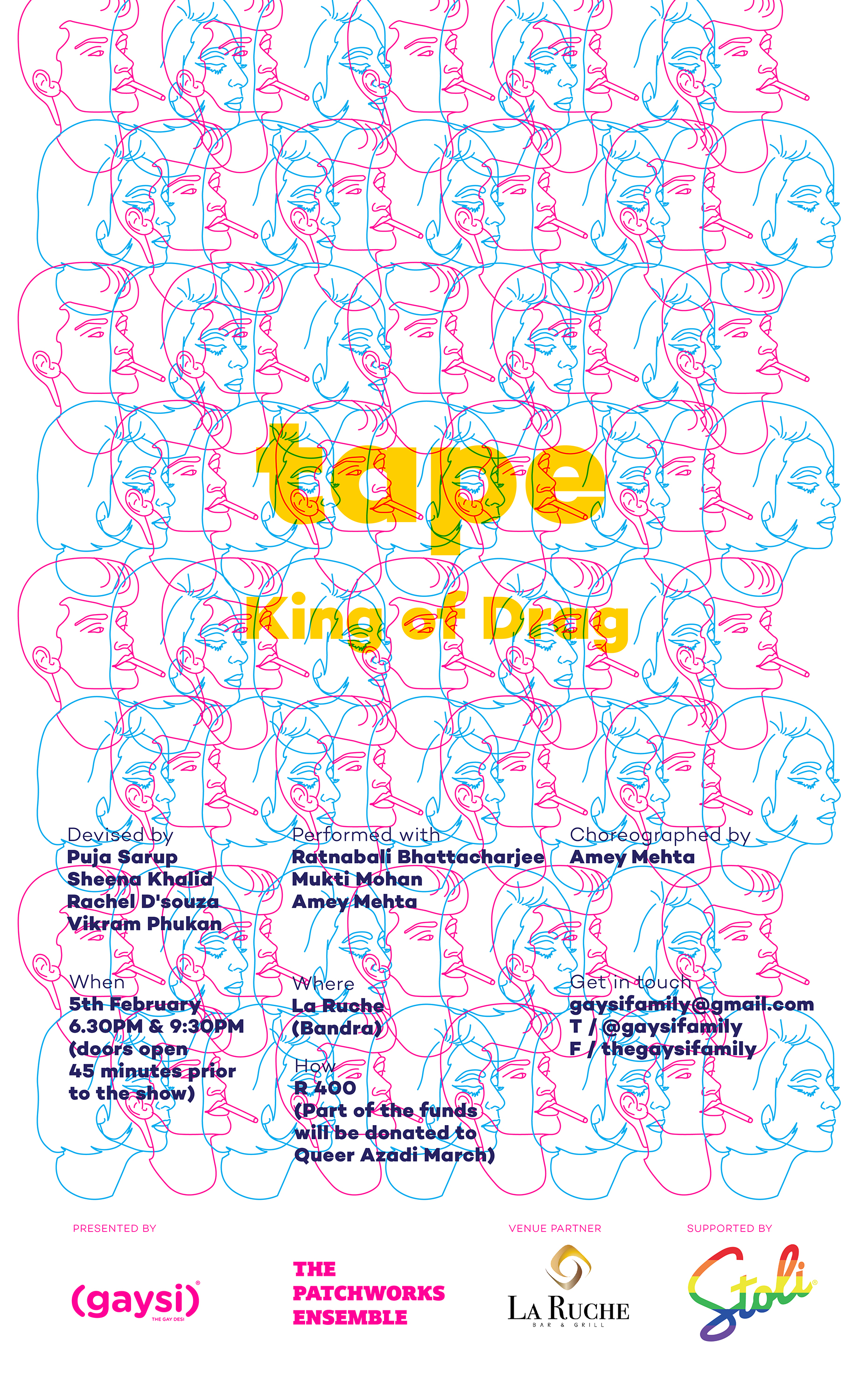 The Patchworks Ensemble & Gaysi Family Presents, Tape (The King of Drag)