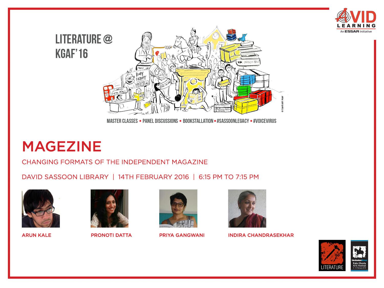 "Kala Ghoda Arts Festival : Panel Discussion On ""MagEzine"""