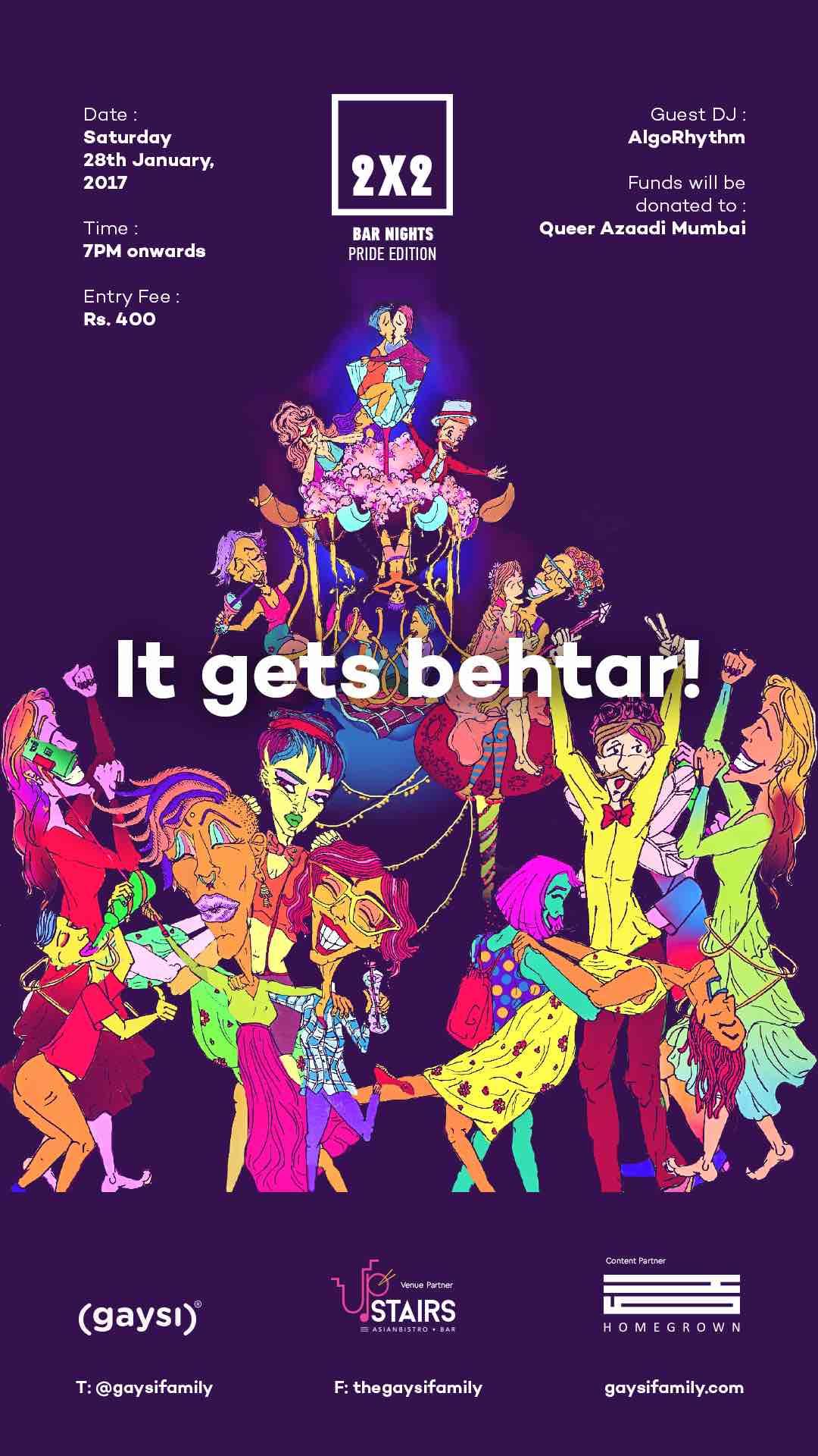 2×2 Bar Nights : Mumbai Post Pride Party