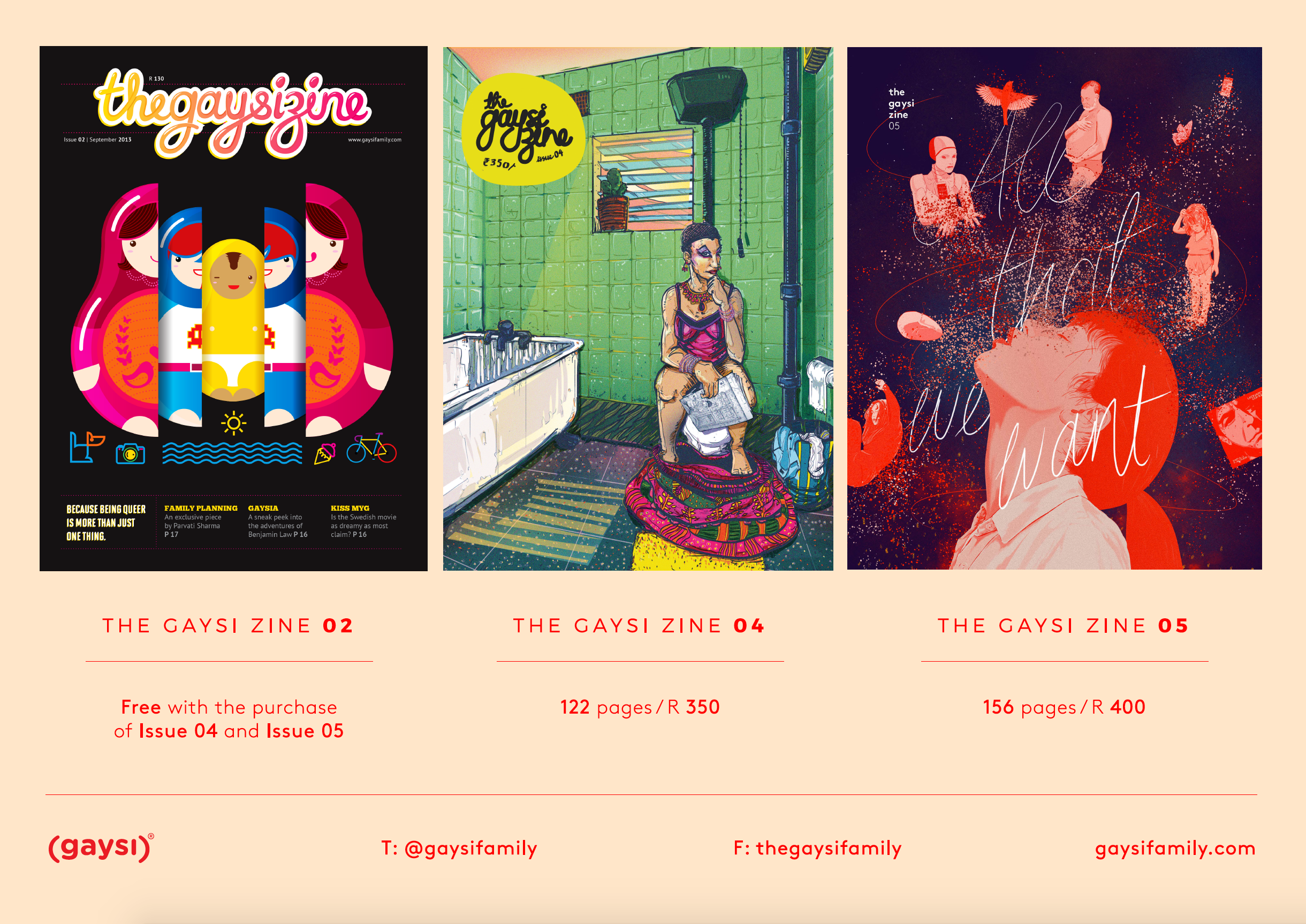 Buy The Gaysi Zine Issue 4 & 5 = Get Issue 2 for FREE