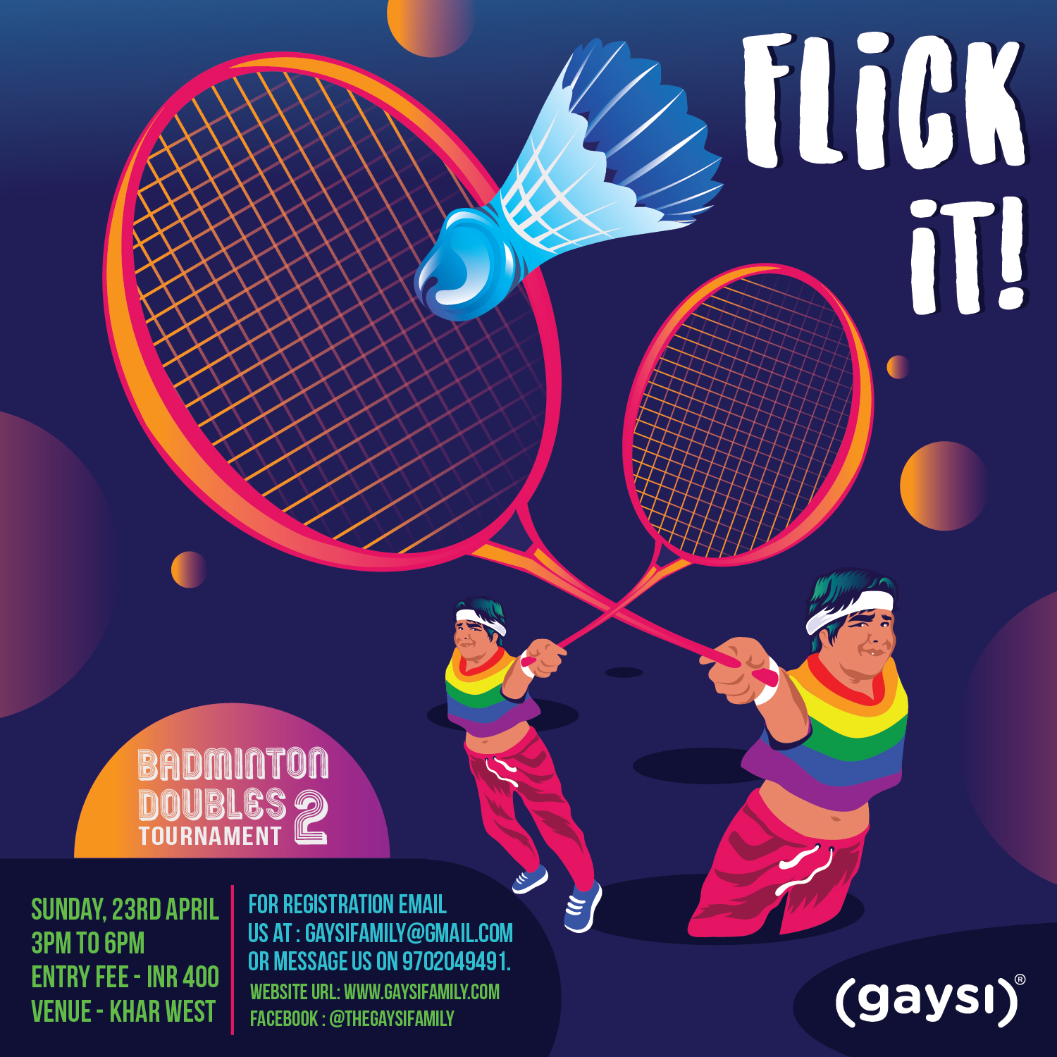 Flick It! With Gaysifamily's Badminton Tournament