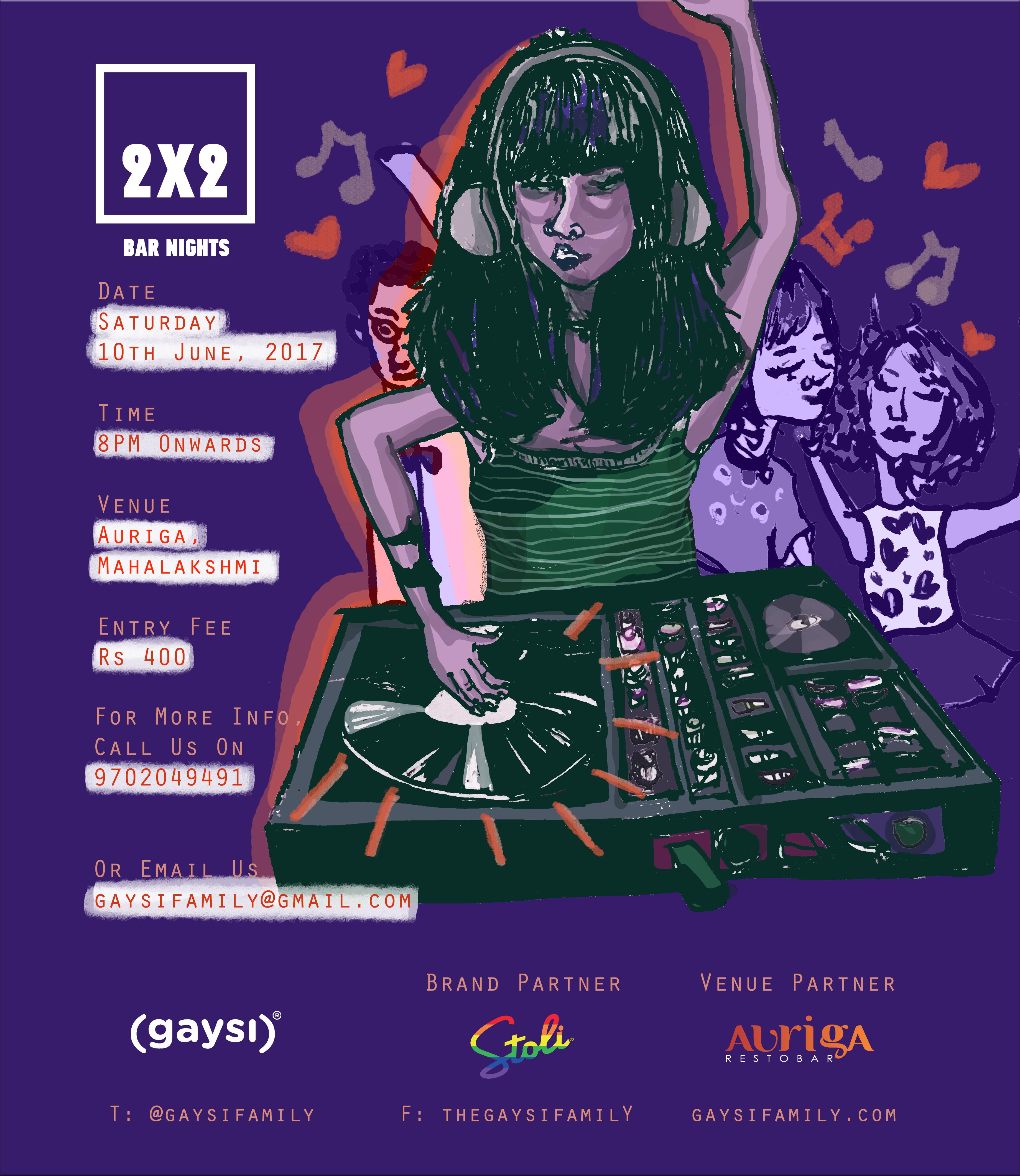 Stoli Vodka & Gaysi Presents 2×2 Bar Night: The Summer-Chord