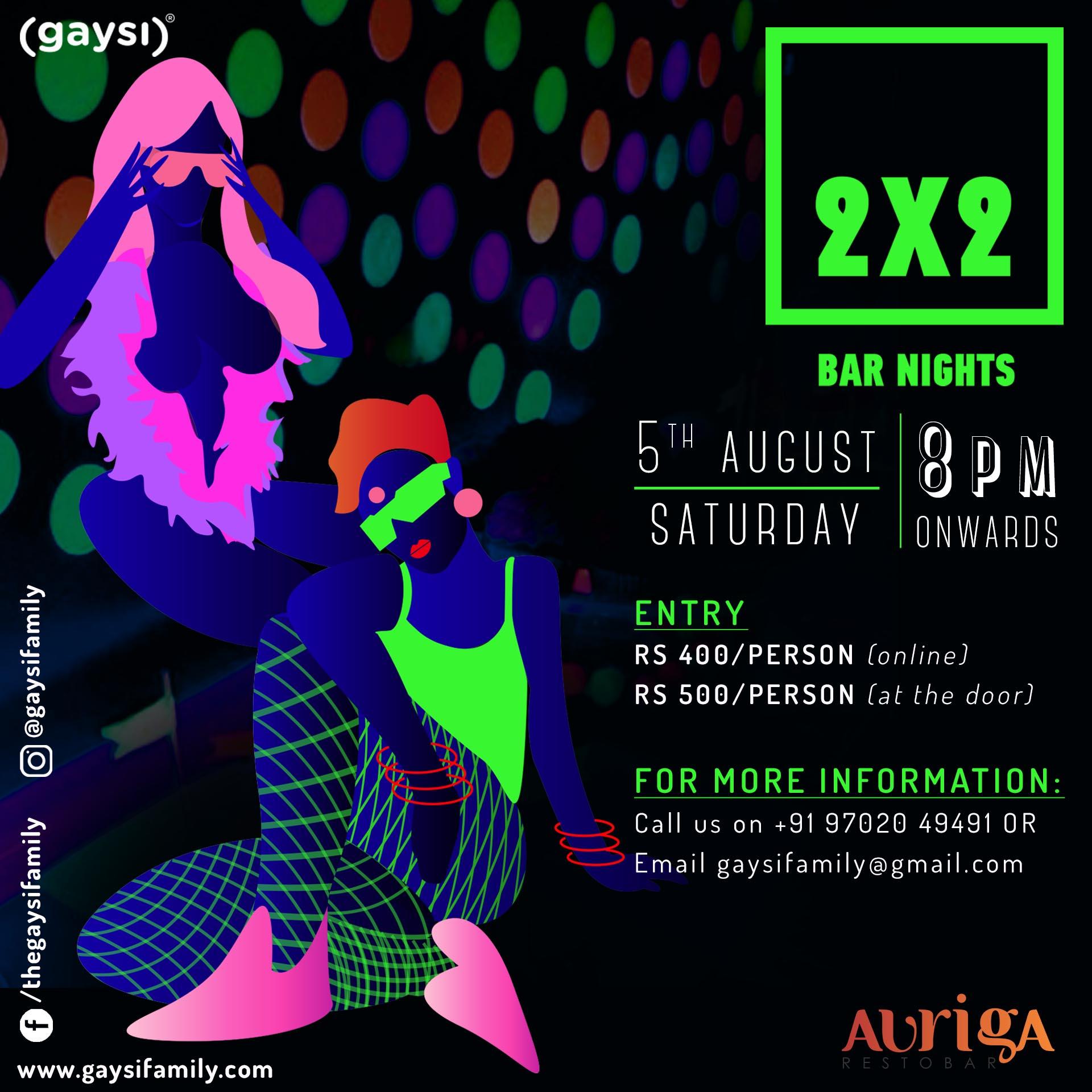 Gaysi Presents 2×2 Bar Nights: 6th Edition