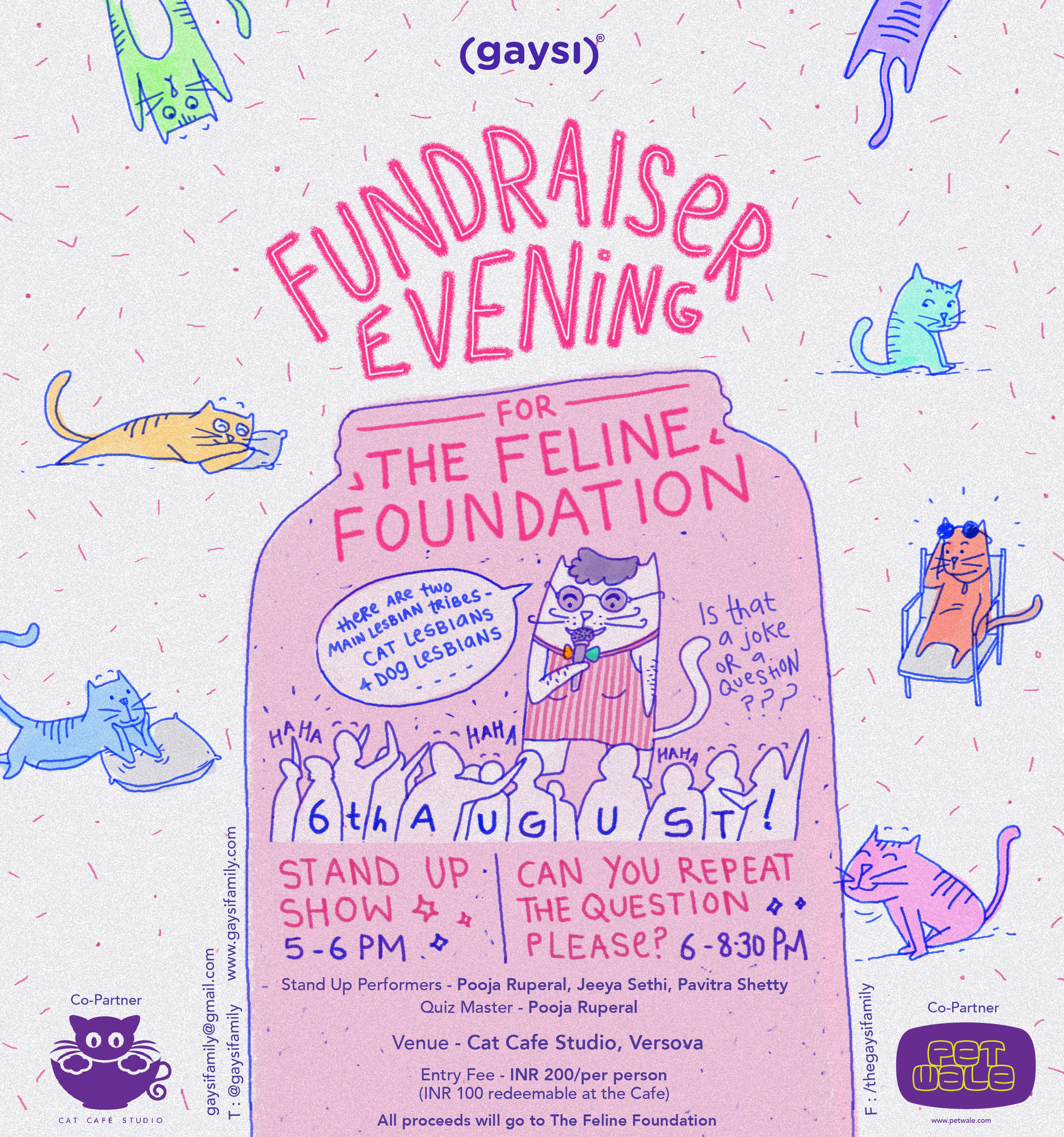 """Fundraiser For """"The Feline Foundation"""": Stand Up & Queer Trivia"""