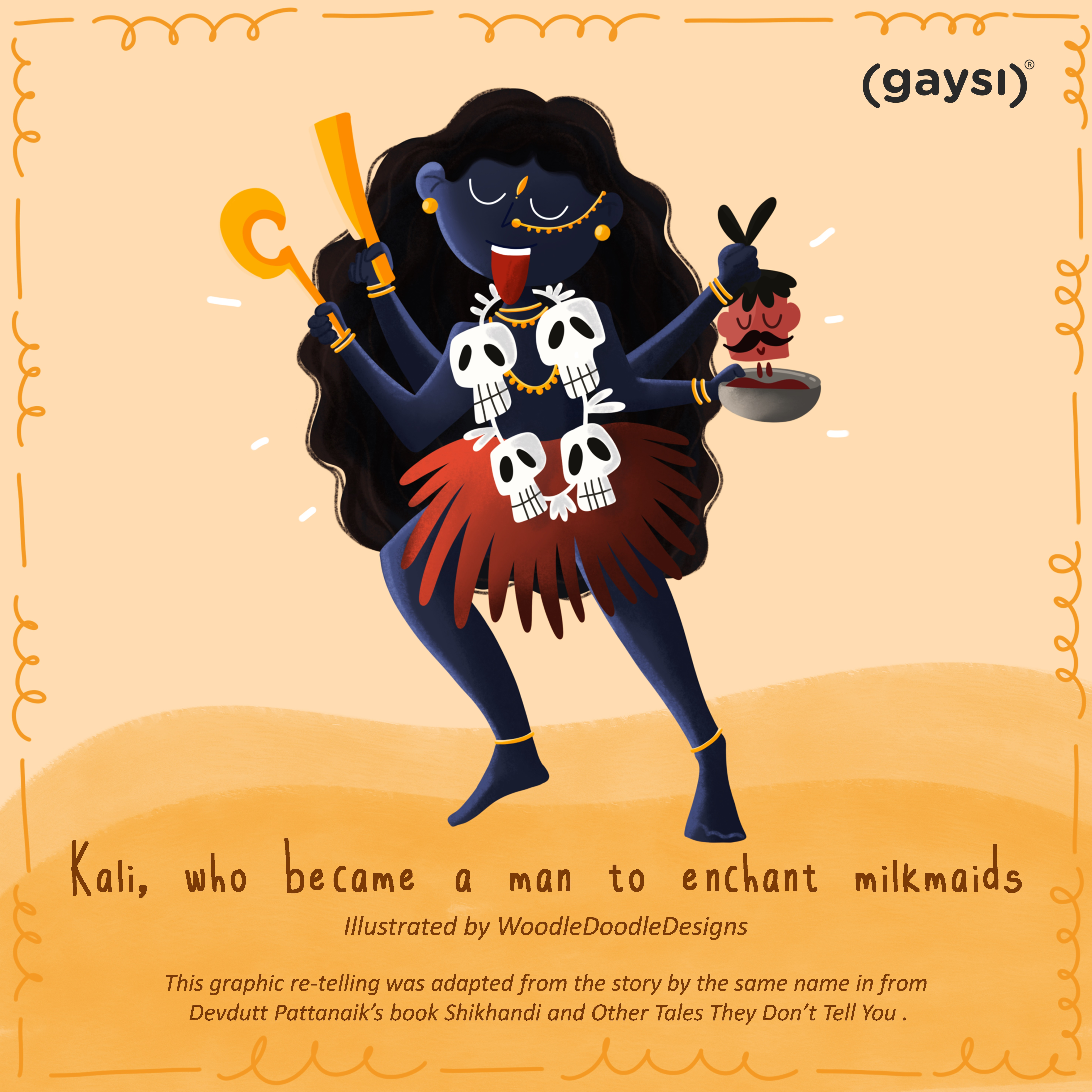 Queer Mythology: Kali, Who Became A Man To Enchant Milkmaids