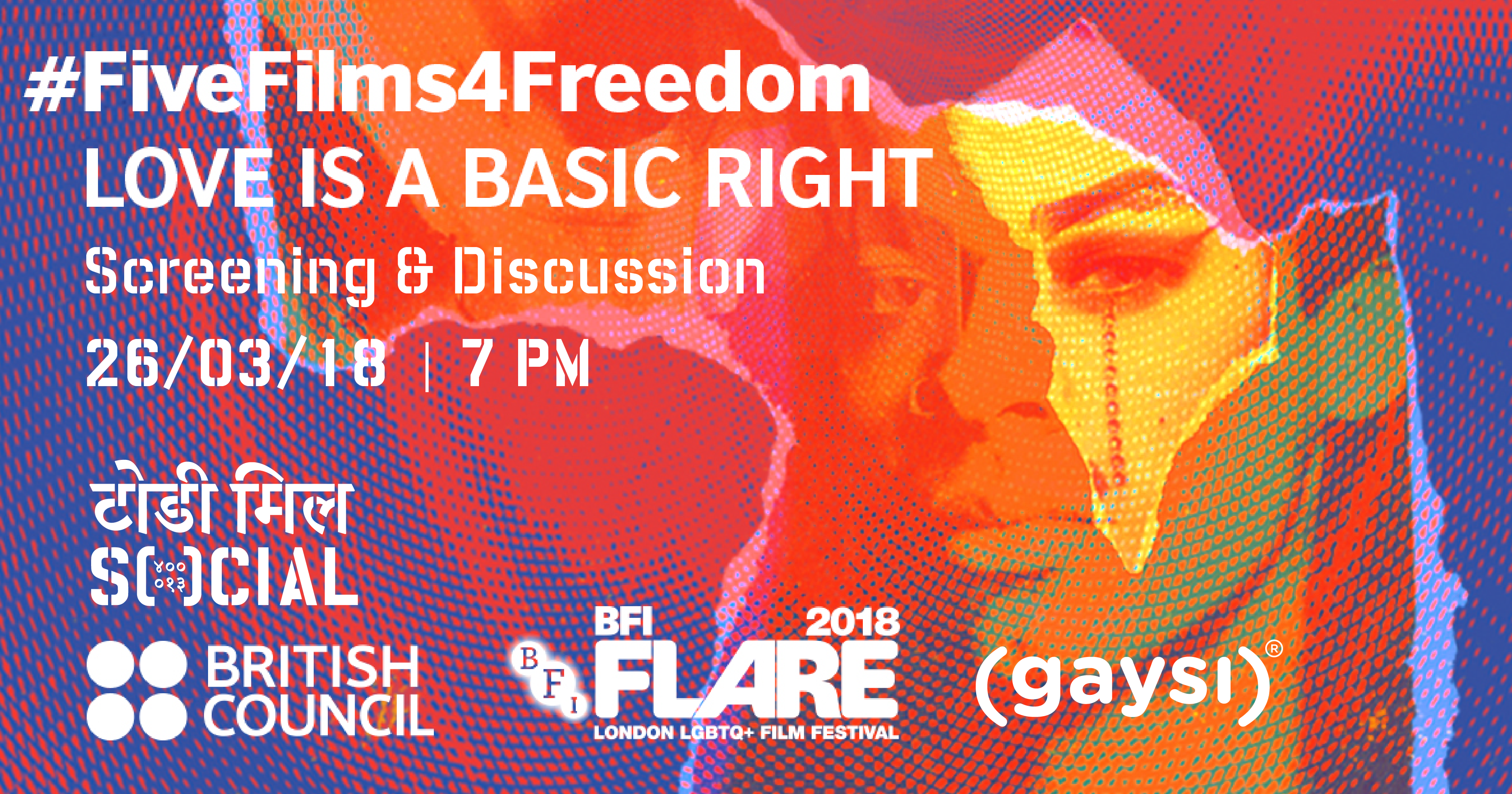 FiveFilms4Freedom 2018: 26th March, 7 PM At Todi Mills Social