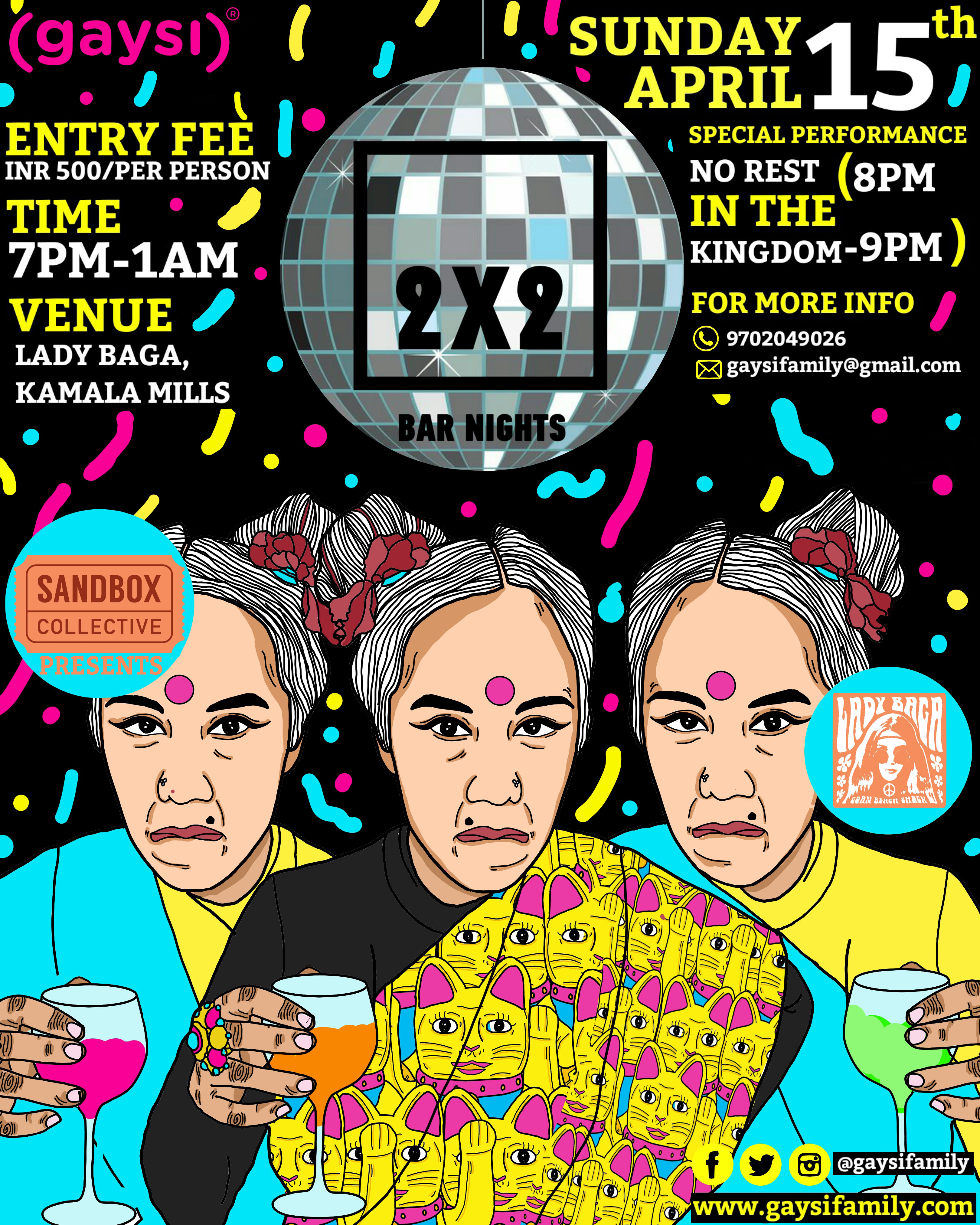 Gaysi Presents 2×2 Bar Nights In Collaboration With Sandbox Collective