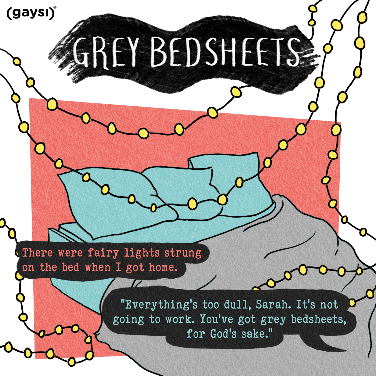 Graphic Fiction: Grey Bedsheets