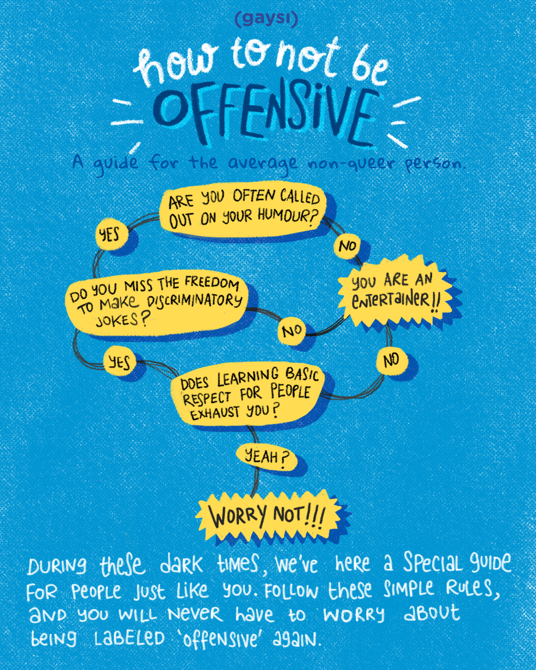 How To Not Be Offensive – A Guide For The Average Non Queer Person