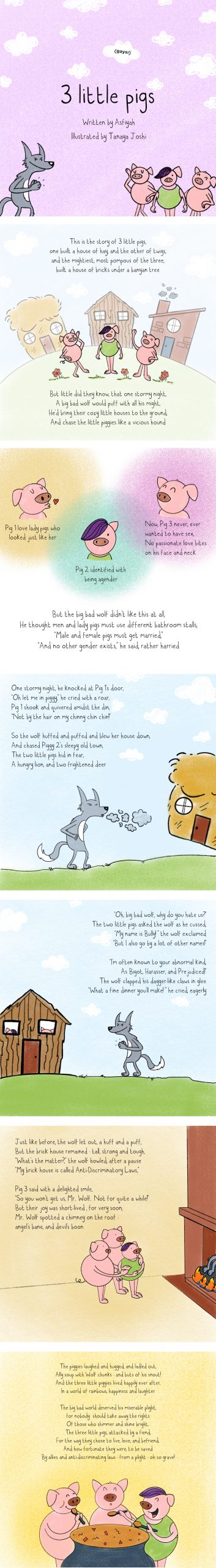 Three Little Pigs – A Queer Re-telling