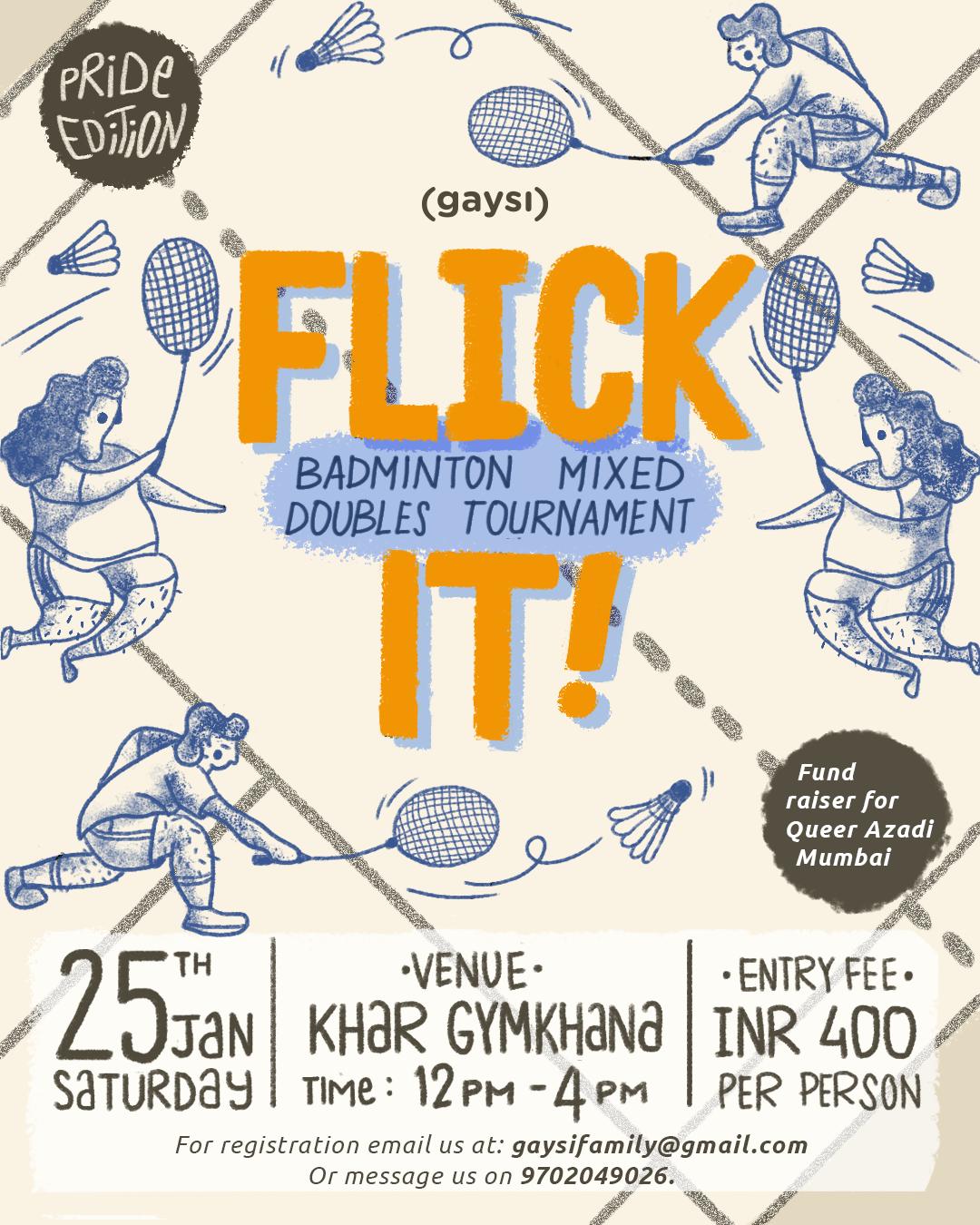 FLICK IT! Mixed Doubles Badminton Tournament (Pride Edition)