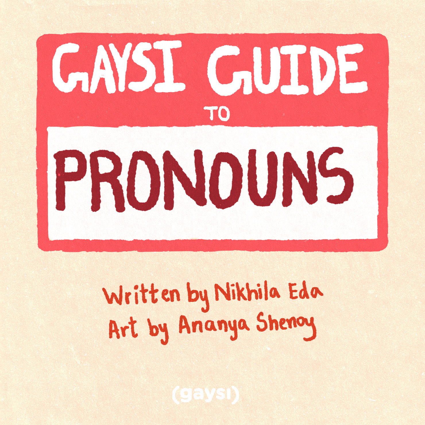 The Gaysi Guide To Pronouns