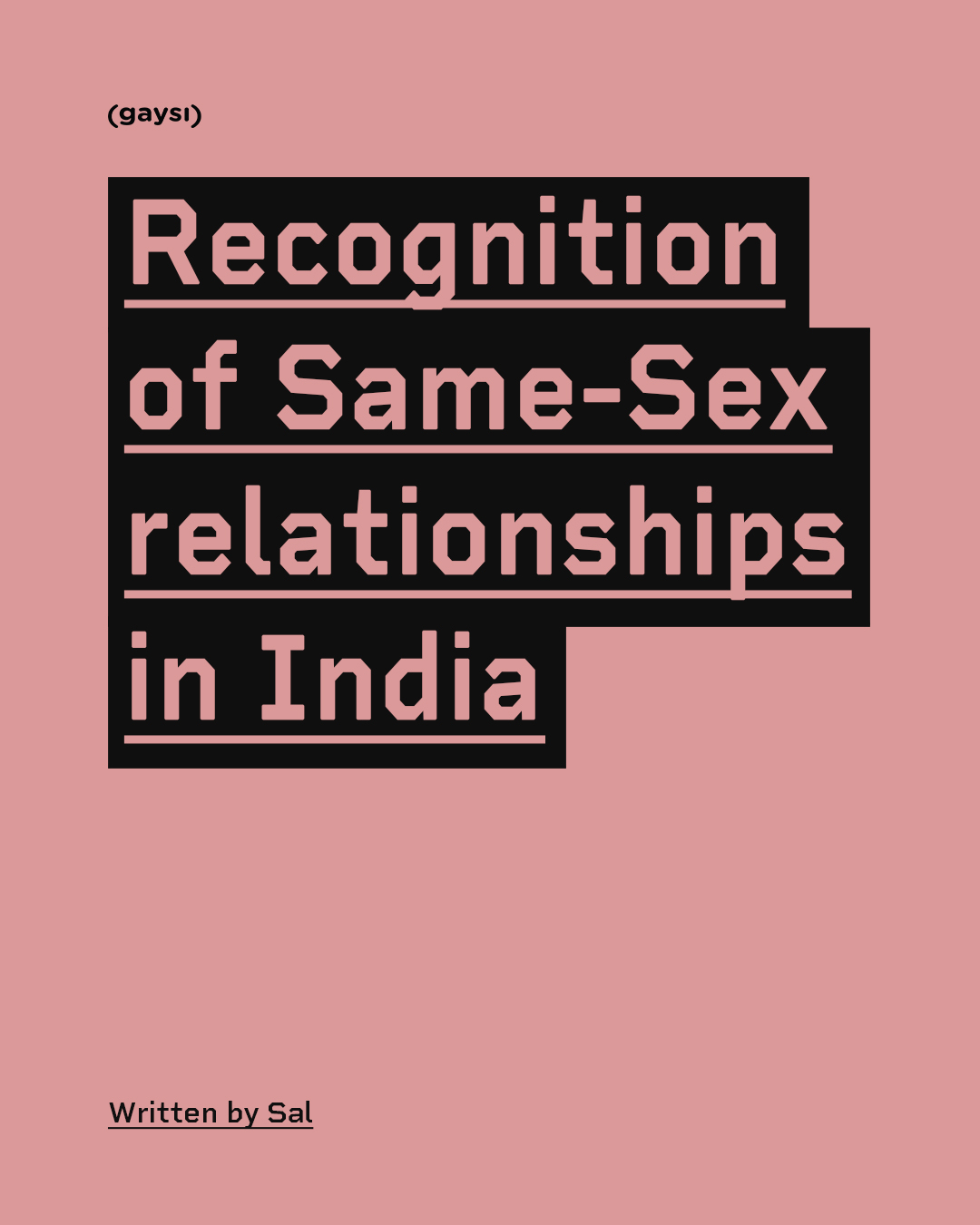 Recognition Of Same-Sex Relationships In India